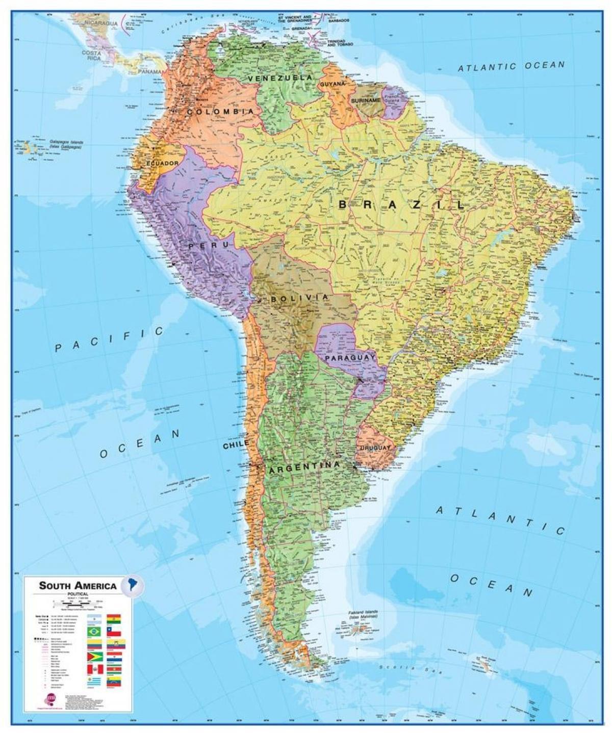 Mapa de Perú américa del sur - Mapa de Perú en américa del sur ...